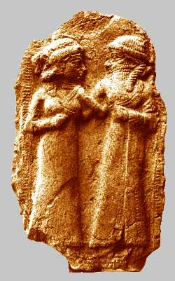 Wedding of Inanna and Dumuzi self officiating their sacred marriage