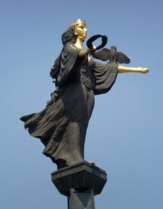 Sophia Goddess of Wisdom over Sofia, Bulgaria