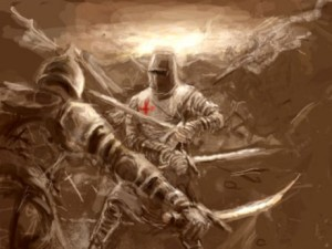 Knights Templar battle today on spiritual plane warfare become a knight