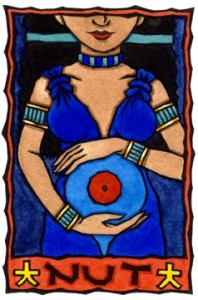 Egyptian Mother Goddess Nut February Holidays