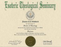 Get a degree online PhD Pastoral Counseling Metaphysics Religion
