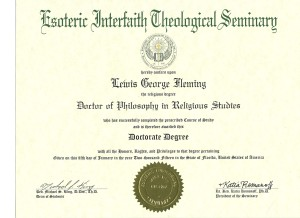 PhD in Religious Studies Metaphysics Spiritual Counseling Religion
